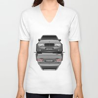 car V-neck T-shirts featuring Car by IrvSim