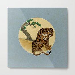 Tiger with magpie type-C : Minhwa-Korean traditional/folk art Metal Print