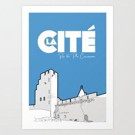 Cité de Carcassonne - Rue de Plo Art Print