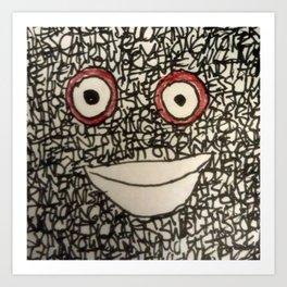 Blockhead # 11 - AKA Angst Art Print