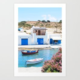 234. Fisherman's Village, Greece Art Print
