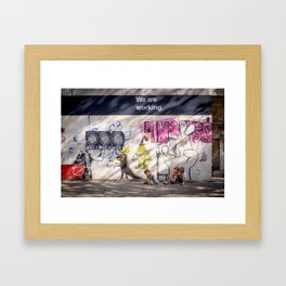 """""""We Are Working"""" Venice, Italy Framed Art Print"""