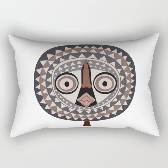 African Tribal Mask No. 2 Rectangular Pillow