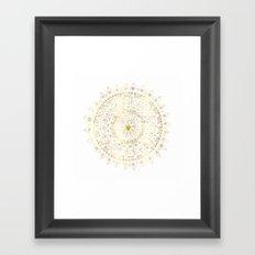 Gold Hand Drawn Mandala Framed Art Print