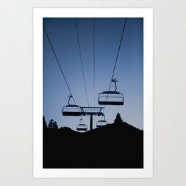 Mammoth Mountain Silhouette Art Print