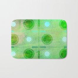 Green Peace Discs of Light Bath Mat