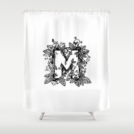 Leafy M Shower Curtain