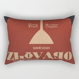 Doctor Zhivago, David Lean, Omar Sharif, Boris Pasternak book, minimalist movie poster, Russia film Rectangular Pillow