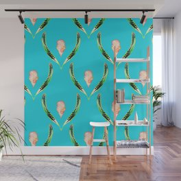 Heliconia Blossom Turquoise #tropical Wall Mural