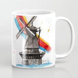 The Windmill and the Rainbow Coffee Mug