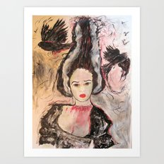 Frank's Wife Art Print