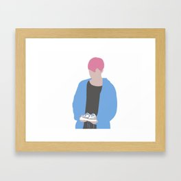 Jimin Spring days Pink Hair silhouette Framed Art Print