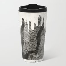 New York Skyline + Map #3 Travel Mug