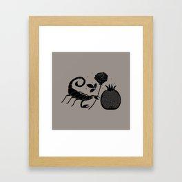 New Moon in Scorpio Framed Art Print