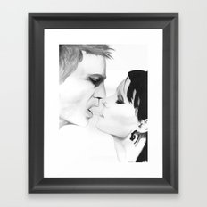 Put your hand back in my shirt Framed Art Print