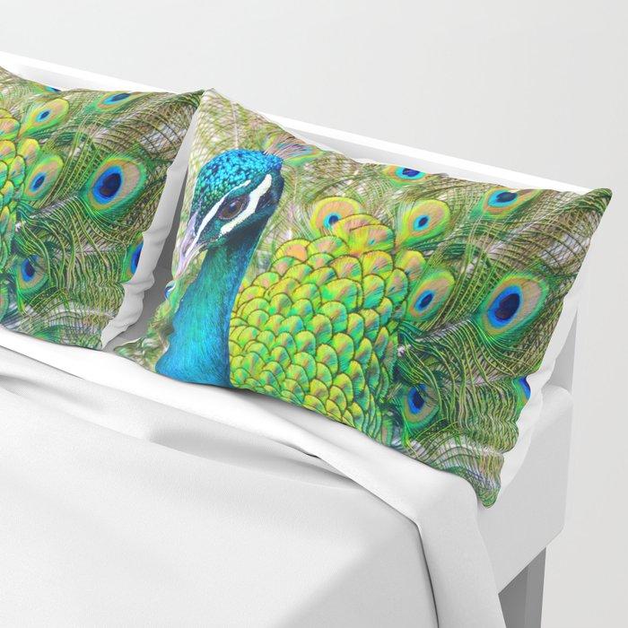 Beautiful Peacock (Color) Pillow Sham