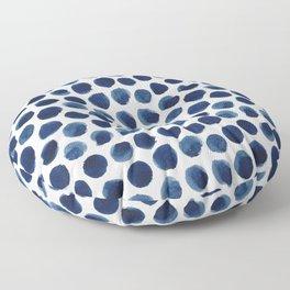 Indigo Polka Dot Floor Pillow