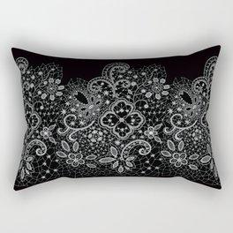 B&W Lace Rectangular Pillow