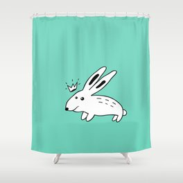 Rabbit with Crown Shower Curtain