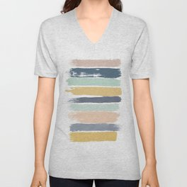 Pastel Stripes Unisex V-Neck
