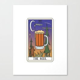 Beer Reading Canvas Print