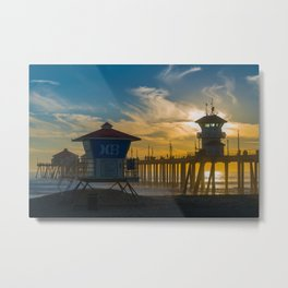Towers in the Sun Metal Print
