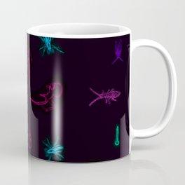 Neon Macro Insect Spiral Coffee Mug