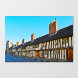 Stratford Upon Avon Timber Frame Houses  Canvas Print