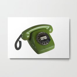 Green Phone 1977 Vintage  Metal Print