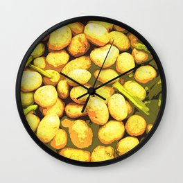Lots of Potatoes and Vegetables Wall Clock