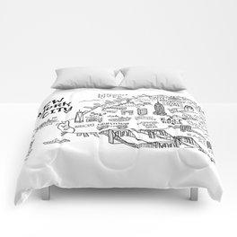 New York City Map Comforters