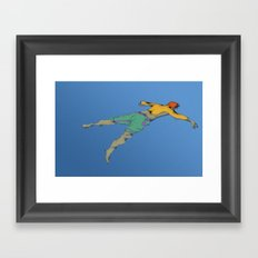 Poor Floater Framed Art Print
