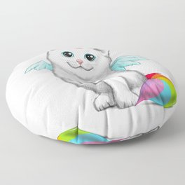 Cat unicorn Floor Pillow