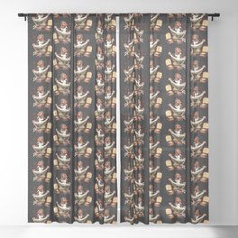 Zombie Pin Up Sheer Curtain