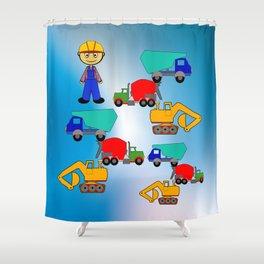 Kleiner Bauarbeiter Shower Curtain