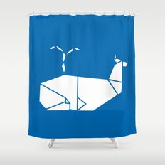 White Whale Shower Curtain
