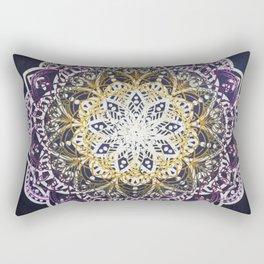 Glowing Mandala Rectangular Pillow