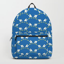 Geometrical Matisse's birds Backpack