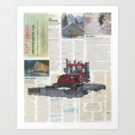 Snowcat No.1 Art Print