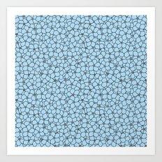 Forget Me Knot Sky Blue Art Print