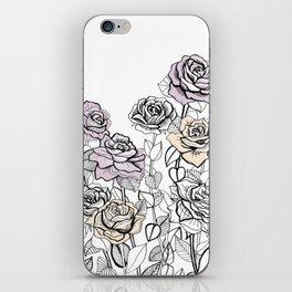 Rose Bush Drawing   Graphic Design iPhone Skin