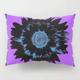 Black Night Shade Death Flower Purple Abstract Pillow Sham
