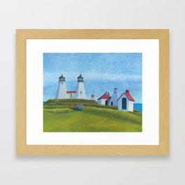 Plymouth Lighthouse Framed Art Print