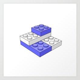 Bricks - Blue Art Print