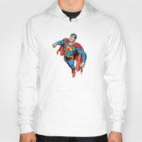 superman Hoodies featuring SUPERMAN by Yuliya L