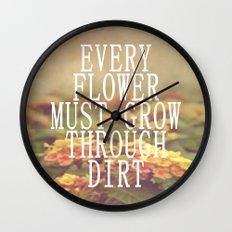 Every Flower Wall Clock