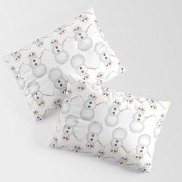 Yarn Snowman Pillow Sham