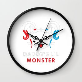 Daddy's lil monster, Harley Quinn Wall Clock