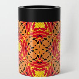 ethnic cross red Can Cooler