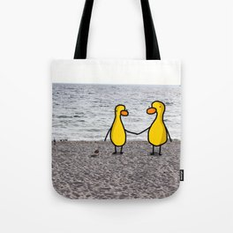 Lovebirds on the Beach Tote Bag